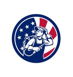 american lit operator usa flag icon vector image
