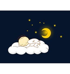 Angel sleeping vector