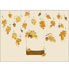 autumn greeting card vector image
