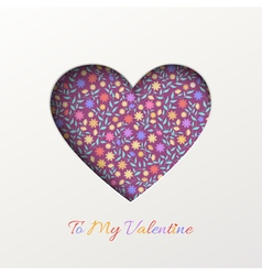 Background with floral heart vector
