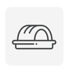 bakery icon black vector image