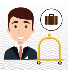 bellman hotel employee icon vector image