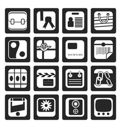 Black Business and Internet Icons vector