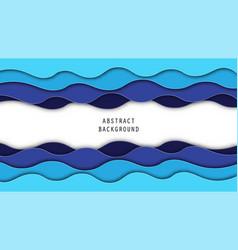 blue carve paper art background paper art vector image