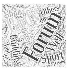 Body Building Forums Word Cloud Concept vector