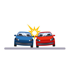 car and transportation accident vector image