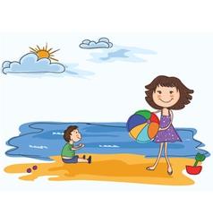 Cartoon summer background vector