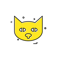 cat icon design vector image