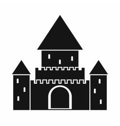 Chillon Castle Switzerland icon simple style vector image