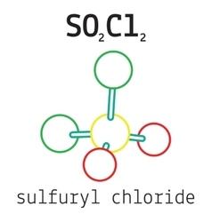 Cl2SO2 sulfuryl dichloride molecule vector image