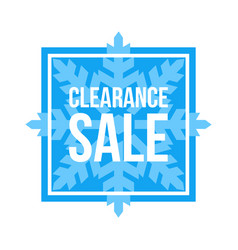 Clearance sale sign square winter sale vector