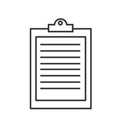 Clipboard check business document report icon vector