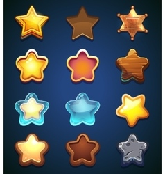 Collection star icons in different style vector