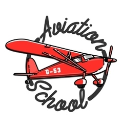 Color vintage Aviation emblem vector image