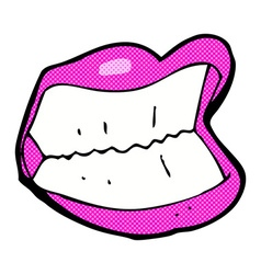 Comic cartoon grinning mouth vector