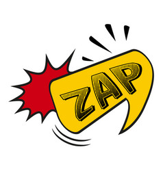Comic lettering zap on white background vector
