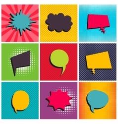 Comic text balloon pop art vector