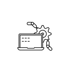 computerized production sketch icon isolated on vector image