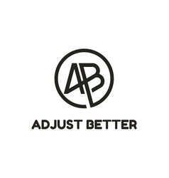 Creative modern monogram logo letter a b vector