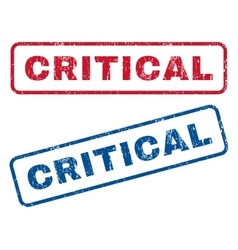 Critical rubber stamps vector