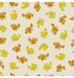 Cute sparrow seamless pattern vector image vector image