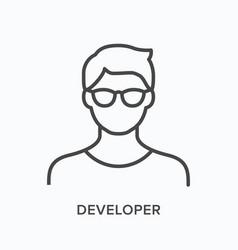 Developer line icon outline vector