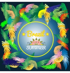 Digital brazil hot summer with colored vector image