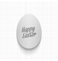Easter paper Egg Label with greeting Text vector