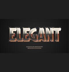 elegant font 3d bold gold style vector image