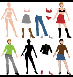 Fashion dolls vector