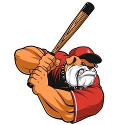 Ferocious Bulldog ballplayer vector