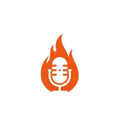 fire podcast logo icon design vector image