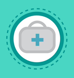 First aid kit icon online consultation button vector