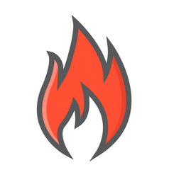 flammable symbol filled outline icon logistic vector image