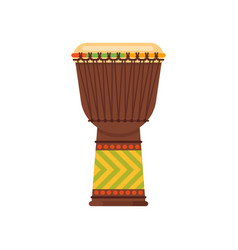 Flat style african drum musical instrument djembe vector