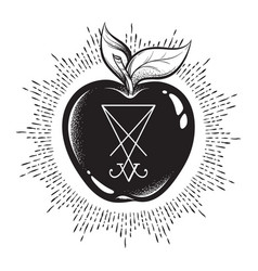 Forbidden fruit apple from tree knowledge vector