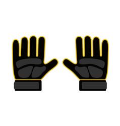 Goalkeeper gloves icon vector