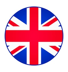 Great Britain United Kingdom flag Round shape vector image