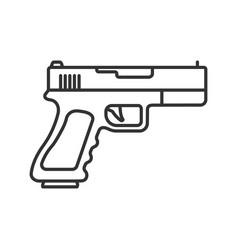 Gun pistol linear icon vector