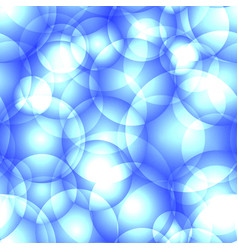 intersecting light blue circles and balls for vector image