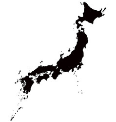 Japan map outline vector