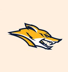 Logo mascot aggressive fox vector
