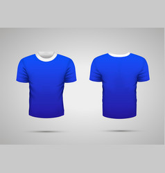 mockup blank blue realistic sport t-shirt vector image