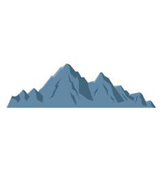 Mountain peak alpine nature tourism vector