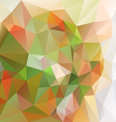 Natural green orange abstract polygon triangular vector