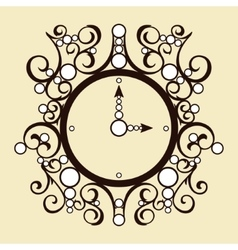 old vintage clock on beige background vector image