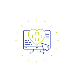 online medical services icon line vector image
