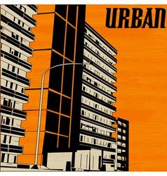 Orange Urban City vector image