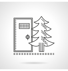 Outdoors wc flat line icon vector image