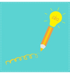 Pencil and shining light bulb Business idea concep vector